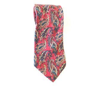 Christian Dior Monsieur Paisley Red Tie